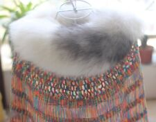Fashion Warm White Arctic real Fox Fur Shawl Cape Wrap Scarf Vest Luxurious Sexy