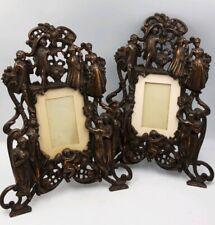 Gorgeous Antique Victorian Art Nouveau Bronze Desktop Picture Frames