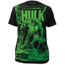 The Incredible Hulk Monster Unleashed Adult Big Print Subway T-shirt Tee Medium