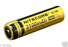1 NEW NITECORE 3100mAh RECHARGEABLE BATTERIES NL188 18650 3.7v 11.5Wh HIGH POWER