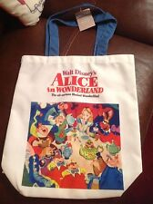 Disney Alice in Wonderland tote bag. NEW