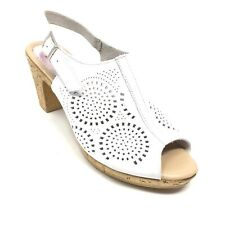 Women's Spring Step Slingback Sandals Shoes Size 41 EU/9.5-10 B US White U11