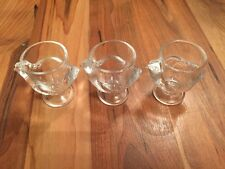 Three Great Vintage Glass Chicken Egg Cups