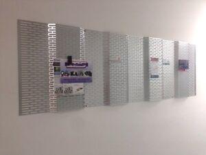 Duralov Galvanize Photo Memo Board Magnetic Clip Modern Perforated Design  20x30