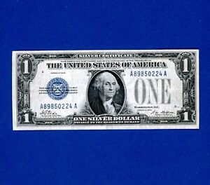 1928 $1 Dollar Silver Certificate Note Blue Seal FUNNY BACK Currency Banknote.