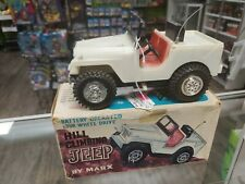 Rare Marx Battery Operated Four Wheel Drive Hill Climbing Jeep Works Hong Kong