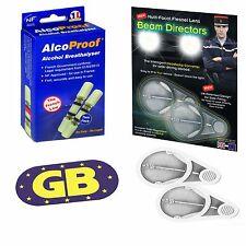 Headlamp Light Beam Adaptors Fresnal Lens French Breathalyser Magnetic GB Plate