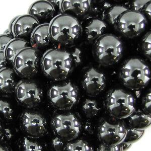 "Magnetic Hematite Round Beads Gemstone 15.5"" Strand 4mm 6mm 8mm 10mm 12mm"