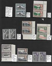 Ceylon Stamp Collection George VI 1938-47 umm pairs. SG Cat: £120+