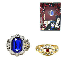 Black Butler Cosplay Ciel Sapphire Ring Toy New