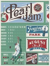 Pearl Jam Fenway Poster