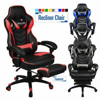 High Back Ergonomic Office Gaming Chair Racing Style Adjustable Recline Footrest