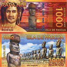 Easter Island Isla de Pascua 1000 Rongo 2011 Beautiful Fantasy Polymer Note