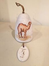 Ceramic hanging bell with paintrd camel