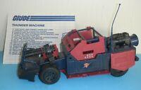 1986 GI Joe Cobra Dreadnok Thunder Machine Thrasher's Car Vehicle w/ Blueprints