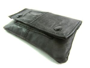 New Quality Super Soft Real Leather Tabacco Pouch Flap Purse Wallet Purse