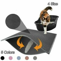 Pet Cat litter Mat - Double Layer Pad Flexible Trapping Mat for Box Pan S/M/L/XL