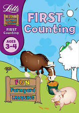 First Counting Fun Farmyard Learning Ages 3-4 Letts Education Book NEW (B003)