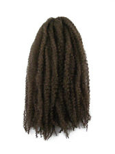 CYBERLOXSHOP MARLEY BRAID AFRO KINKY HAIR #6 MEDIUM BROWN DREADS SYNTHETIC