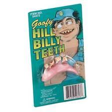 Hill Billy Teeth, Set of Bad Fake Teeth, Fancy Dress