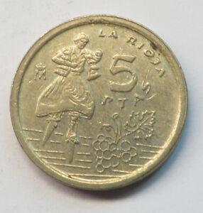 Spain 5 Pesetas 1996 Aluminum-Bronze KM#960