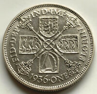 1936 GEORGE V SILVER FLORIN TWO SHILLINGS COIN VERY HIGH GRADE