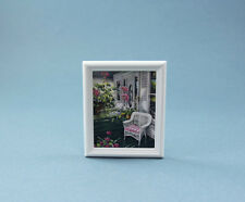 Beautiful 1:12 Dollhouse Miniature White Framed Front Porch Picture #HC622