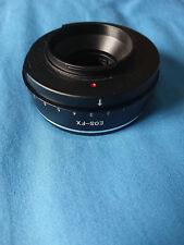 Aperture Control Canon EOS EF EFS lens to FUJI X-mount adapter ring FujiFilm FX