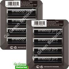 8 x Panasonic Eneloop PRO AA 2500 mAh Rechargeable Batteries Ready To Use SLIDER