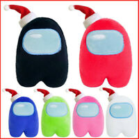 New Xmas Hat Among Us Plush Soft Stuffed Toy Doll Game Figure Plushie Kids Gift