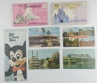 """1970s Walt Disney World """"LOT OF 7"""" vacationers GUIDE~POSTCARDS COLORFUL PICTURES"""
