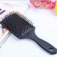 Anti-static Professional Paddle Hairbrush Tangle Cushion Massage Comb Brush