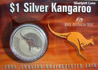 2004 KANGAROO SILVER 1oz Coin Carded