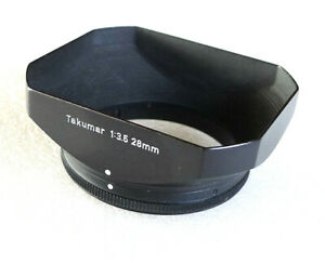 Pentax Takumar Slip-On Square Metal Lens Hood - for 28mm Lens - PERFECT