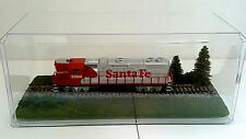"""HO SCALE ~ ACRYLIC TRAIN DISPLAY CASE  ~ 13"""" SINGLE TRACK ~ NATURAL  LANDSCAPING"""