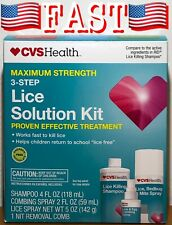 CVS Health 3-Step Lice Solution Kit Maximum Strength