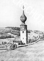 Urach im Schwarzwald - Die Dorfkirche - um 1950       Z 15-13