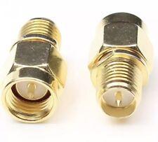 1 Piece SMA male plug To RP-SMA female plug Straight RF Connector Adapter USA
