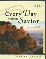 Every Day with the Savior Daily Devotions Large-print Rudolph F Norden HC 2004