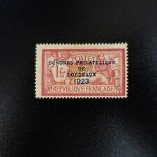 CONGRÈS PHILATÉLIQUE DE BORDEAUX DE 1923 N°182 NEUF SANS GOMME COTE 575€