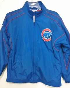 Chicago Cubs Youth Boys L 10/12 Baseball MLB Majestic Blue Jacket