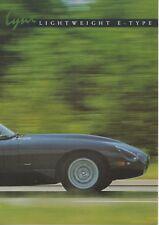 Lynx Lightweight E-Type car (replica of Jaguar, GB) _1998 Prospekt / Brochure