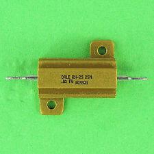 .1 Ohm 25w 1% Dale RH-25 Power Resistor Easy Mount Aluminum Heat Sink 15 Amp NEW