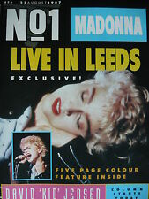 NO 1 (NUMBER ONE) MAGAZINE 22/8/87 - MADONNA - MICHAEL JACKSON - FIVE STAR
