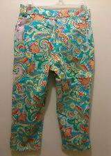 Lauren Ralph Lauren Floral Print 3/4 Pants Womens Size 6 Multi Color
