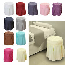 Beauty Salon Round Chair Cover Seat Cover Washable for Home Spa Care Office