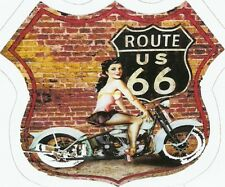 ROUTE 66  AND MOTORCYCLE   Sticker Decal