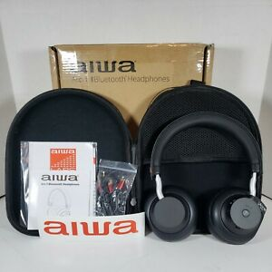 Aiwa Arc-1 Bluetooth Headphones & Soft Case. New in Box!