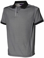 Henbury Double Tipped Men/'s Polo Shirt H482 Casual Short Sleeve Collared Tee