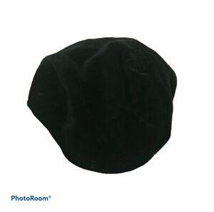 Children's Place Boy's Hat Newsboy Cap Velvet Black Size 18-24 Months